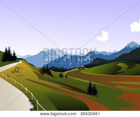 Mountain panorama, Dolomiti