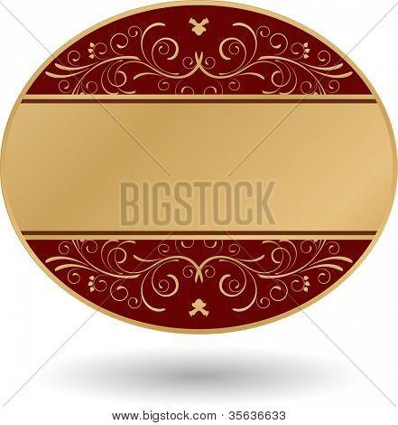 ornate golden round card