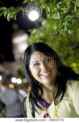 brunette Nachtporträt