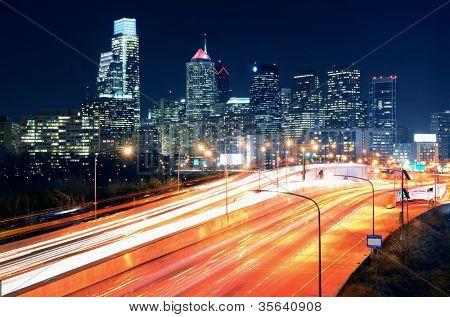 Downtown Skyline of Philadelphia, Pennsylvania.