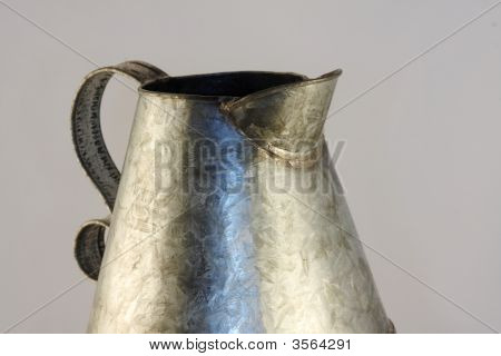Antique Tin Pitcher