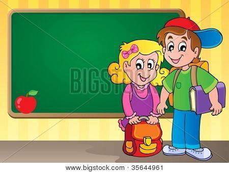 Schoolboard theme image 3 - vector illustration.