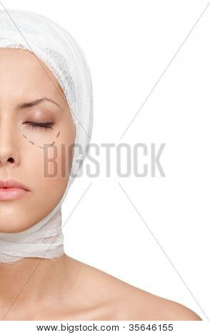 poster of Facelift, isolated, white background