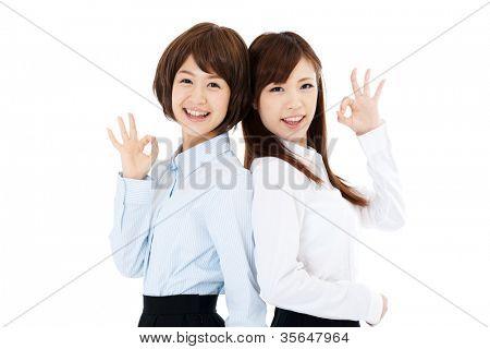 Beautiful young business women. Portrait of asian.