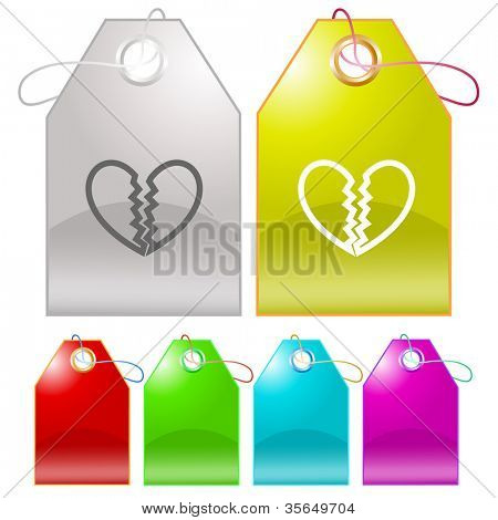 Unrequited love. Raster tags. Vector version is in my portfolio.