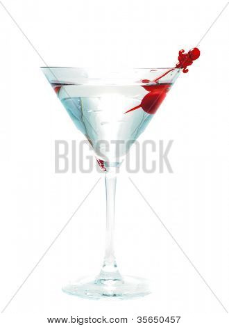 martini glass. cocktail drink