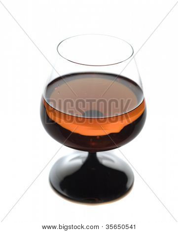 Glass of brandy, cognac isolated