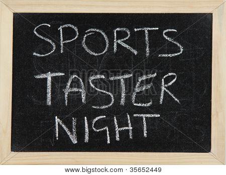 Noche de catador de deportes.