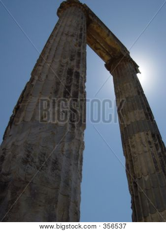 Ancient Columns From Didyma Temple 560 B.c.