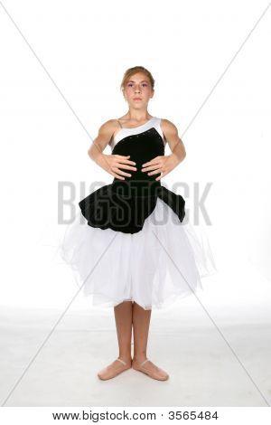 Ballerina In White And Black