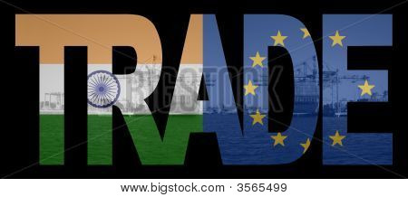 Trade With Indian And Eu Flags