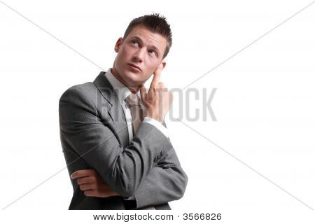 Businessman Considering An Idea