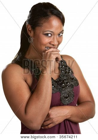 Lady Holds Her Laughter