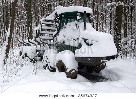Snowbound Timber Vehicle