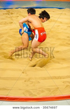 Two Ssireum Wrestling Korean National Sport