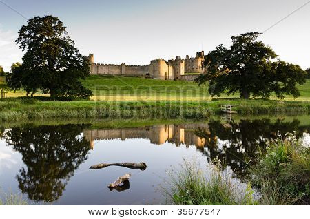 Reflection Of Alnwick Castle