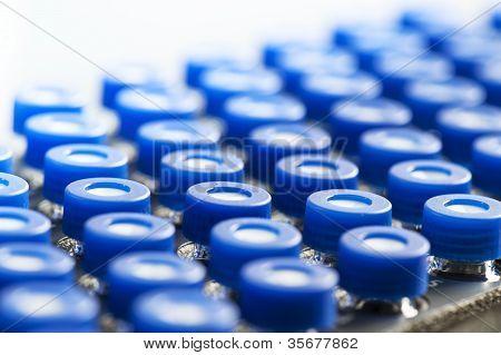 Close Up Of Mini Glass Test Tubes