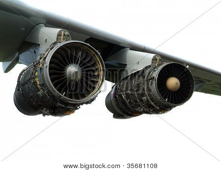 engine of the plane.
