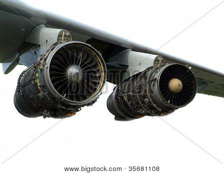 motor del avión.