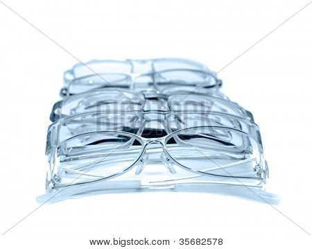 Glasses. On a white background isolation