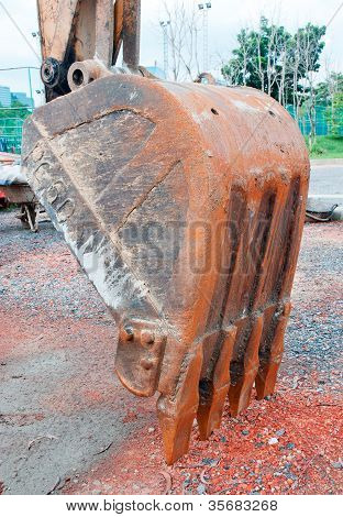 Backhoe excavator bucket