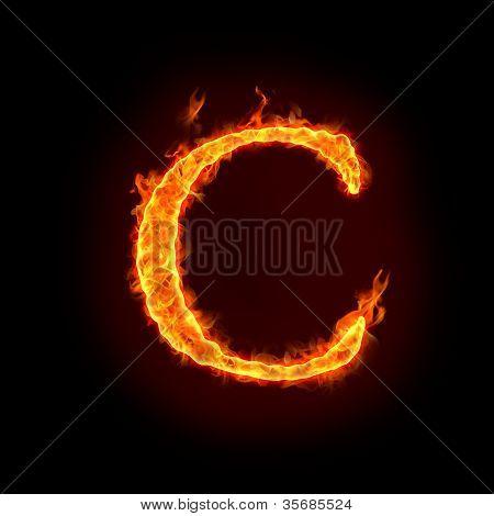 Fire Alphabets, C