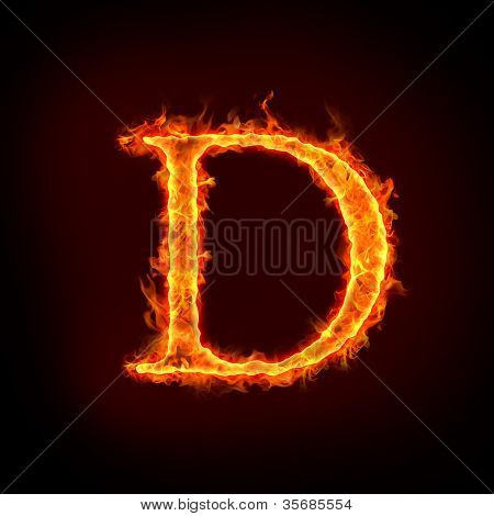 Fire Alphabets, D