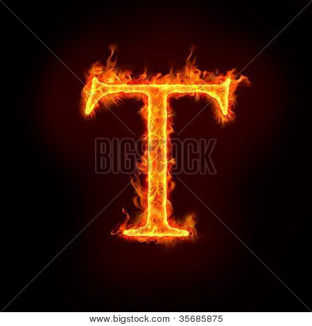 Fire Alphabets, T