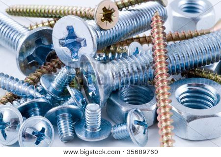 Bolts, screws, nuts