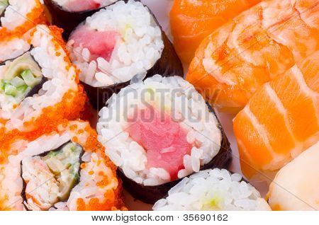 Assortment of Japanese Sushi