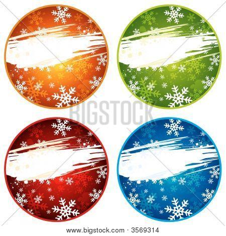 Weihnachten Farbetiketten