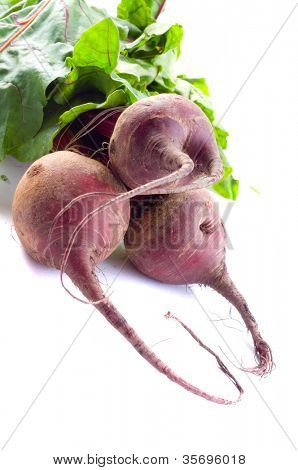Beet on a white background