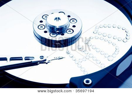 Macro of Opened Hard Disk Drive