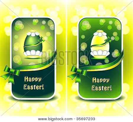 Set Happy Easter Green Color