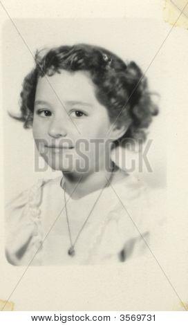 Vintage 1930 Girl Photo