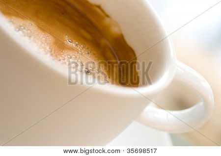 Perfect white coffee cup