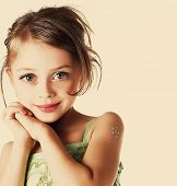stock photo of rutin  - little girl - JPG