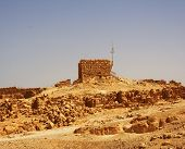 image of zealots  - Ruins at Masada with Dead Sea in background - JPG