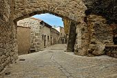 foto of ares  - Streets of the small old spanish town Ares - JPG