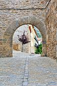 pic of ares  - Streets of the small old spanish town Ares - JPG