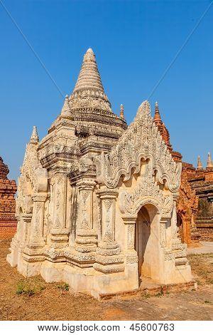 white small pagoda in Bagan