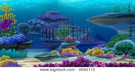 tief unter Wasser