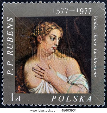POLAND - CIRCA 1977 : Stamp printed in poland picture of artist Rubens