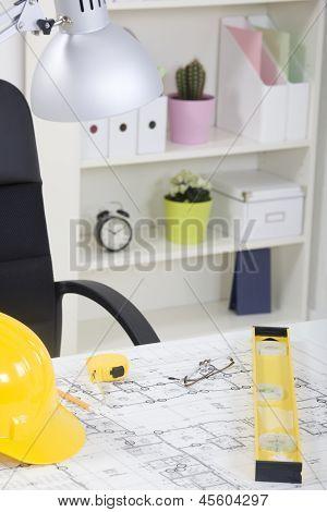 Architekt Büroansicht