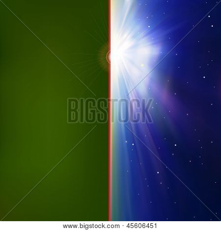Abstract Background With Sunrise And Stars