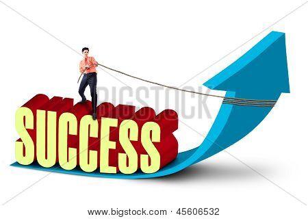 Businessman Strive For Success