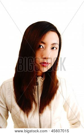 Portrait Of Chinese Girl.