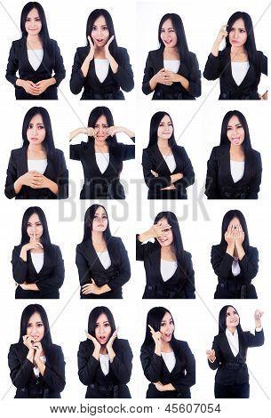 Business Woman nützliche Gesichter