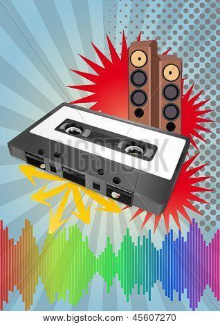 Tape Cassette Poster