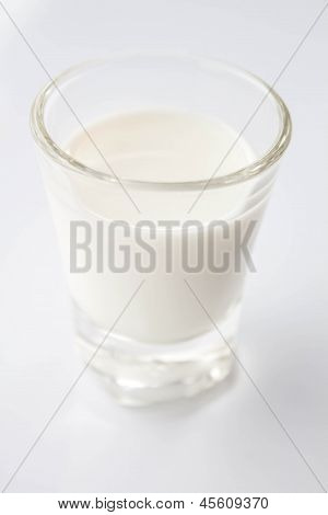 Mini Glass Of Fresh Low Fat Milk